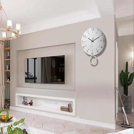 reloj de pared Moderno Columpio Sala de Estar Mudo de Moda Decoración del Dormitorio Reloj de