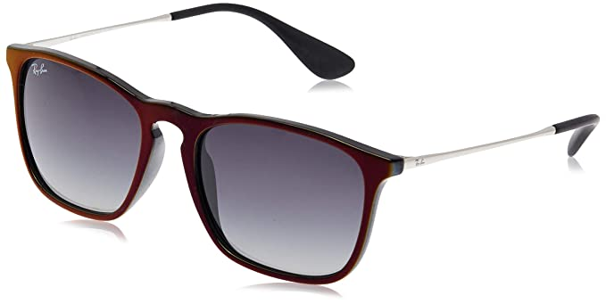 RAY-BAN Chris Gafas de sol, Black Sp Red, 54 para Hombre