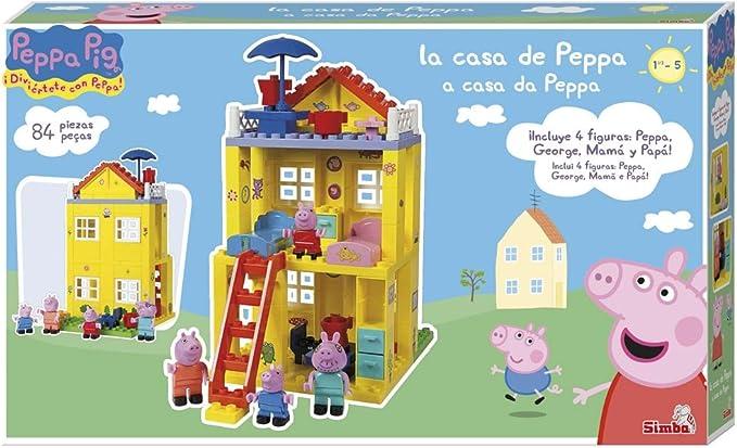 Casa de Peppa Pig de bloques de construcción (Simba 6063439): Amazon.es: Juguetes y juegos