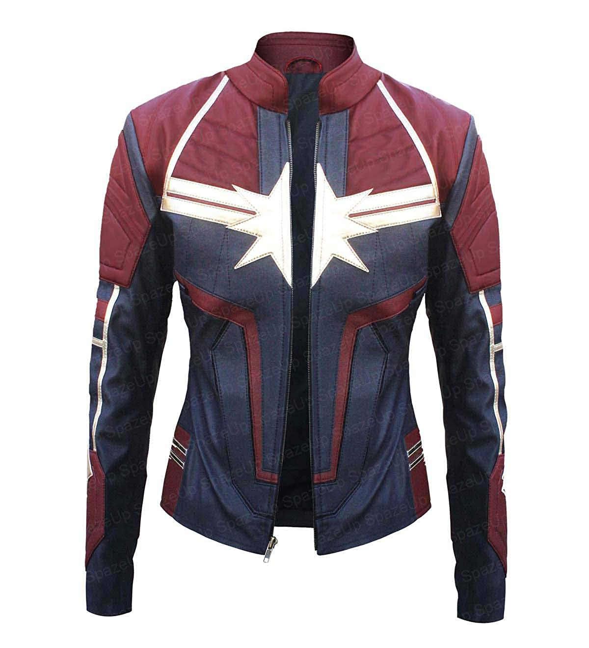 Womens Captain Movie Costume Synthetic Leather Jacket