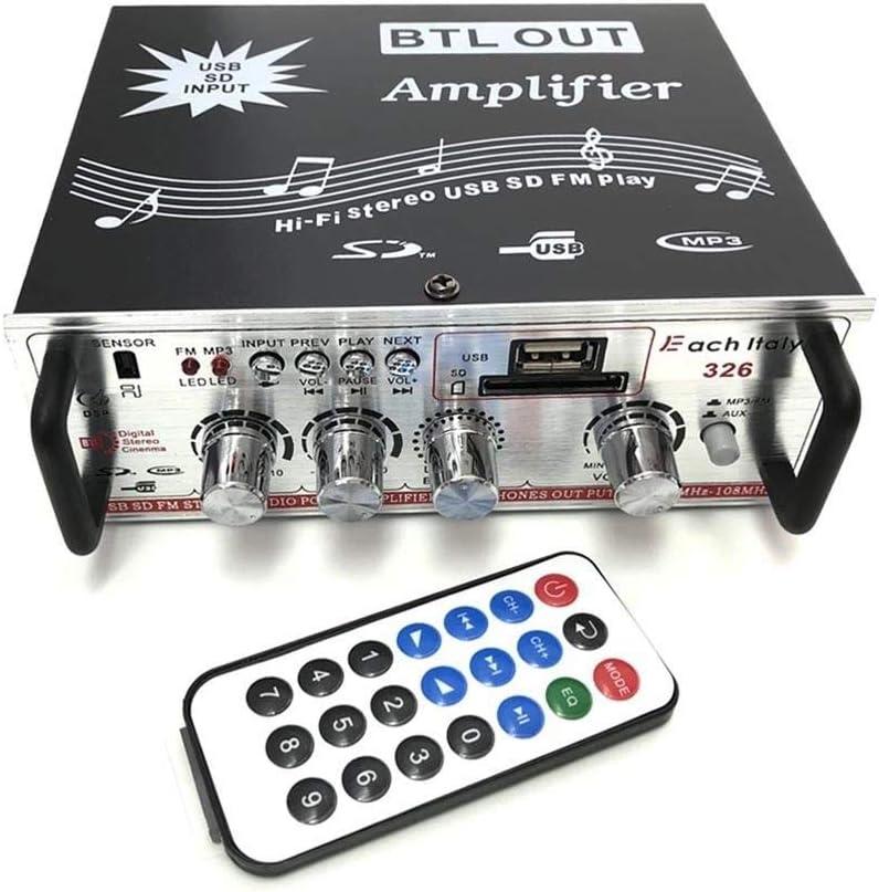 AMPLIFICADOR DE AUDIO USB, MP3 Y RADIO FM CASA COCHE SD 2 ...