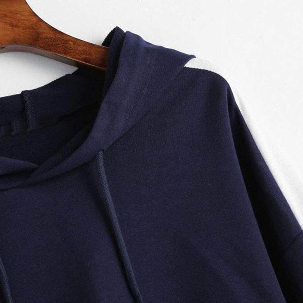 EIJFKNC Sweatshirt Frauen Sweatshirts Sport Hoodies Streifen Herbst solide Sweatshirt Langarm Pullover mit Kapuze Streetwear Hoodie NY