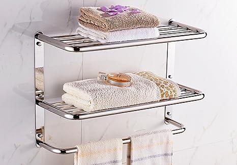 PIGE Estante para Toallas de baño Estante para Toallas de baño (Tamaño : S)