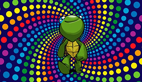 Trippy Turtle Costume (Trippy Turtle Wall Poster Print 12 X 18 In Poster KCP9)