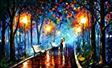 MISTY MOOD is the Original One-of-a-Kind, Oil Painting on Canvas by Leonid Afremov. Image Dimensions are 40x24. This magnificent masterpiece is Gallery Wrapped and ready to be hung. AUTHORIZED AFREMOV RESELLER #: 170023. Gallery Retail is $12,500. Th...