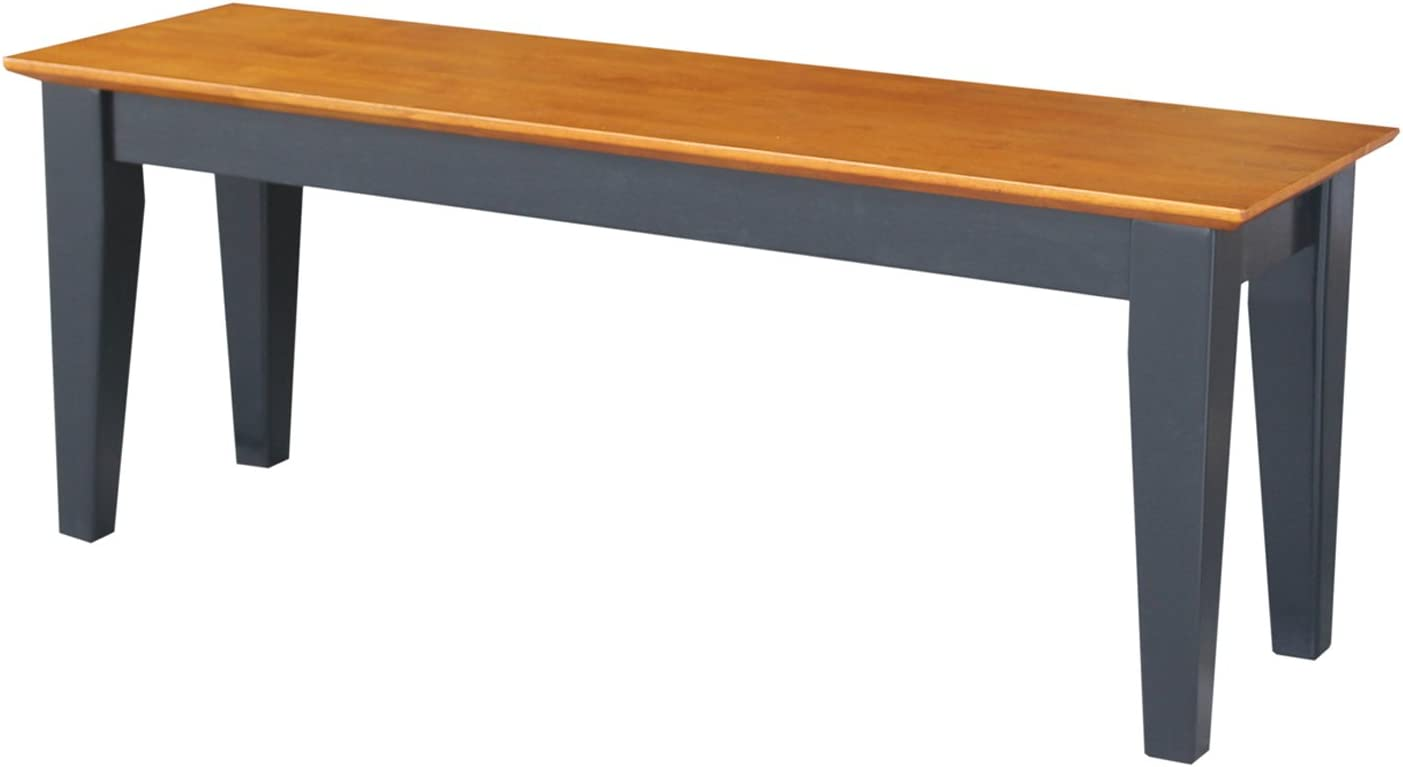 International Concepts Shaker Bench, Black Cherry Finish