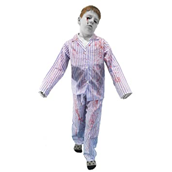 79a5eebd2e46 Zombie Boy Blood Soaked Blue and White Striped Pyjamas Boys Fancy ...