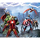 Avengers Rideau - Iron Man, Hulk, Captain America And Thor (180 x 160 cm)