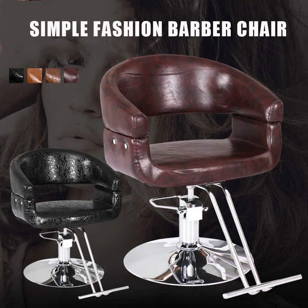 MOye hydraulisk frisörstol salong skönhet frisyr frisör stylingutrustning, 360 graders vridning, för spa raktatuering, guld Brunt 01