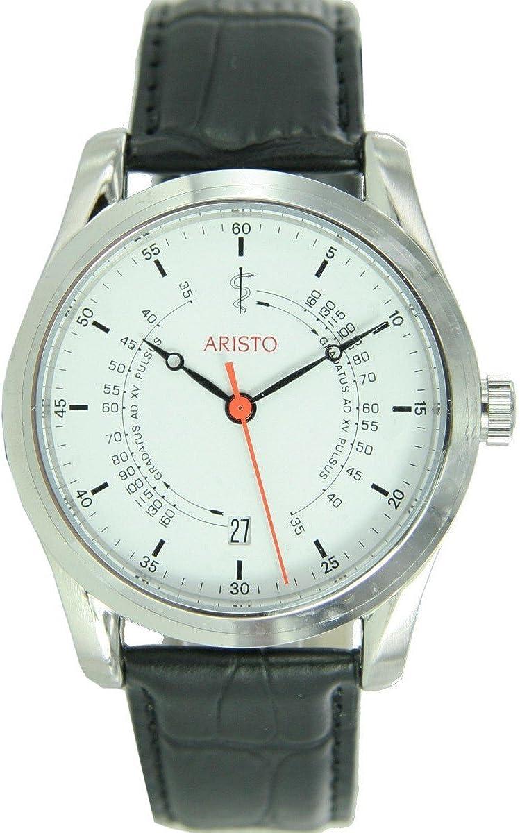 Aristo Unisex Reloj Reloj de Muñeca Guardia Médica Automático Cuero 4H124
