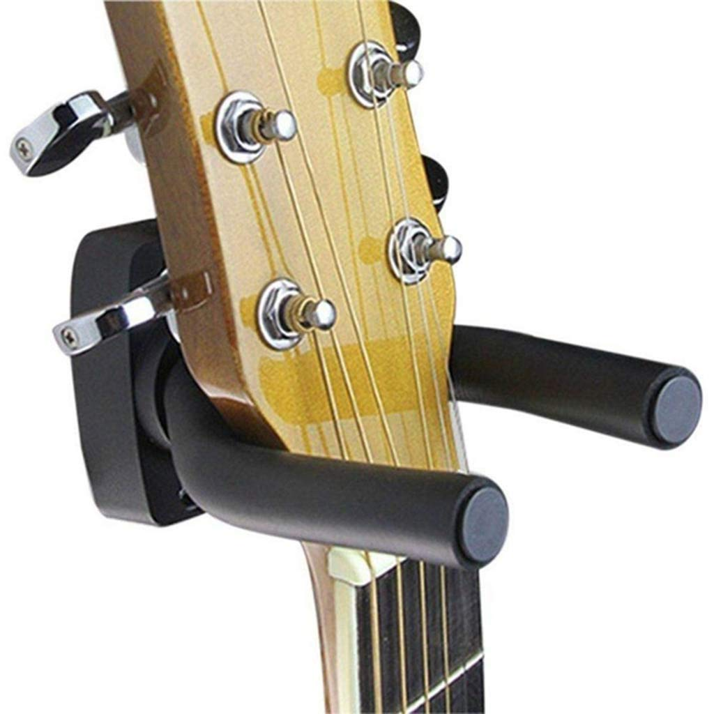 Ogquaton 1 piezas de guitarra Gancho de pared Soporte de pantalla de guitarra Soporte de soporte de suspensió n de pared bajo para todas las guitarras, bajo, violí n, ukelele y violí n (negro) violín ukelele y violín (negro)
