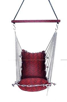 Aashi Enterprise Interior Jumbo Swing & Hammock Washable Folding Free Spring With Bearing To Rotate 360 Degree (Pink)