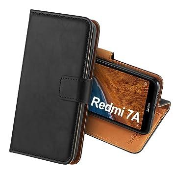 GeeRic Funda Compatible para Xiaomi Redmi 7A,Función de Soporte Ranura para Tarjeta Imán Antideslizante Correa de Cuero de PU,Libro Funda Compatible ...