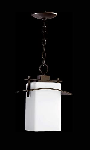 Quorum 7201-9-86 Transitional One Light Pendant from Kirkland Collection in Bronze Dark Finish, 9.50 inches