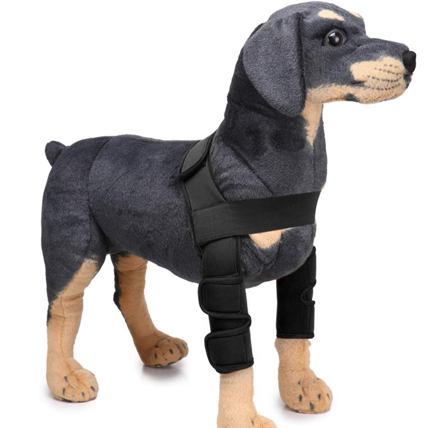 Alfie Pet by Petoga Couture Tegan Dog Front Leg Braces with Supporting Sleeve color  Black, Size  Medium