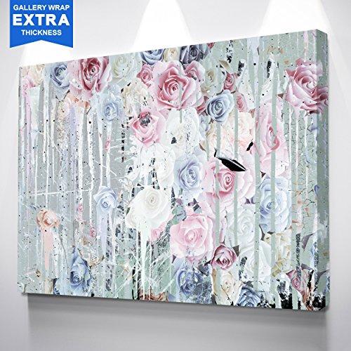 IKONICK Melting Flowers Canvas Art - 24