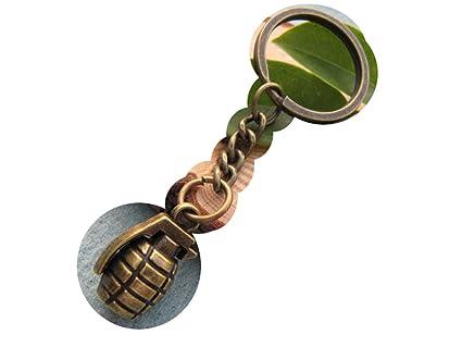 Granada de mano de bronce llavero, arma Militar Guerra ...