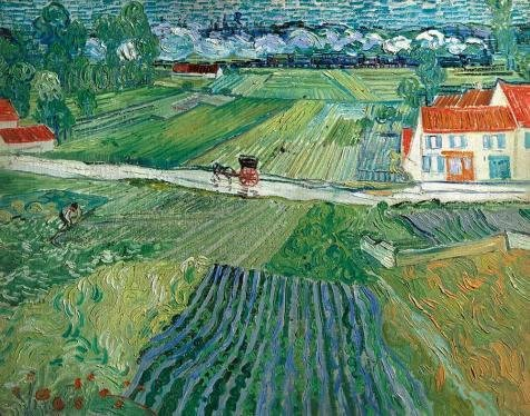 Oil Painting 'Landscape Auvers After The Rain-Vincent Van Gogh,1890', 20 x 25 inch / 51 x 65 cm , on High Definition HD canvas prints is for Gifts And Dining Room, Garage And Nursery Decoration, fine