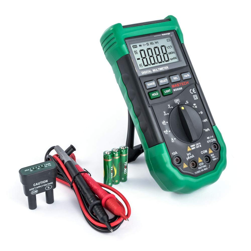 MS8268 MASTECH Advanced DMM Auto Range 4000 Counts  DCV//ACV//DCC//ACC//Ohm//Cap//Freq