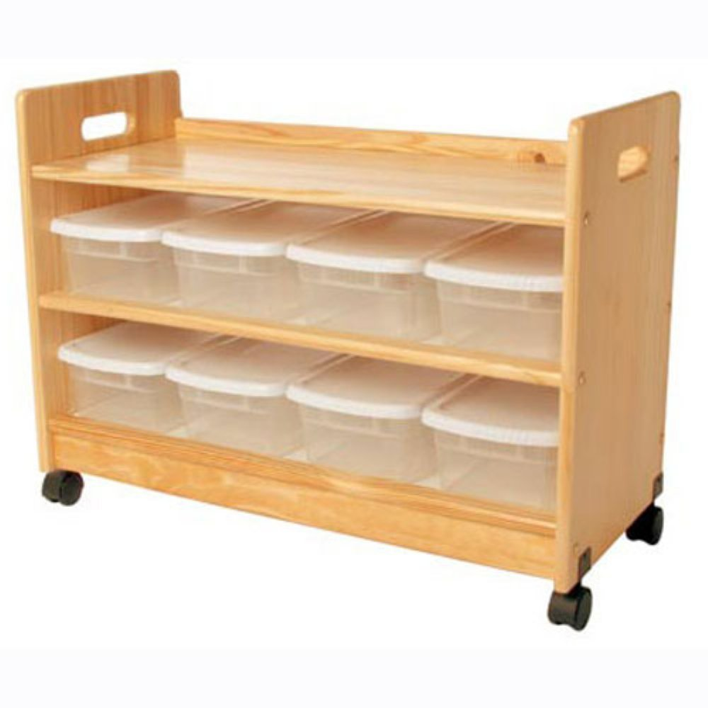 Little Colorado Toy Organizer with Casters, Natural by Little Colorado