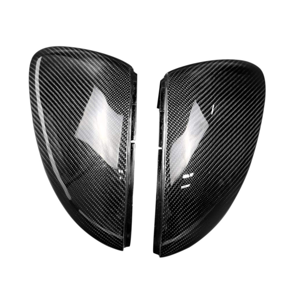 Replacement for Golf MK7 GTI 2013-2018 1 Pair Side Wing Mirror Cover Trim Carbon Fiber Caps Auto Parts