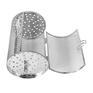 Zerone Coffee Grill Basket,12X18cm Stainless Steel Bakeware Oven Roast Baking Rotary Nuts Beans Peanut Basket BBQ Grill Kitchen Cooking Tool