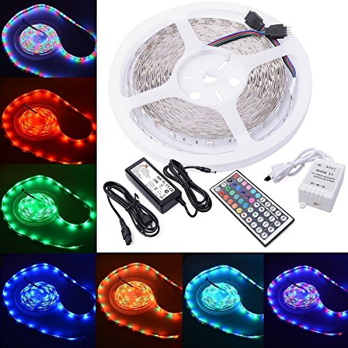 Alfa-Lighting-LED-Strip-10m-RGB-5050-SMD-300-LED-2x5m-Strip-Light-String-Band-Bar-44-Keys-Ir-Remote-Control-60w-Power-Supply-Rgb-10m-5050-Energy-Class-A