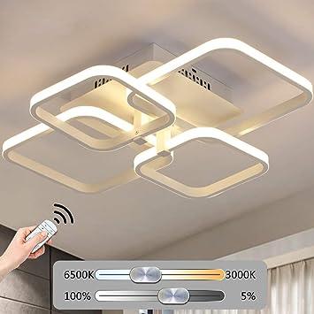 Lámpara De Techo Regulable LED Lámpara De Sala De Estar Lámpara De Techo Moderna De Moda Lámpara De Techo Minimalista De Metal De Diseño Acrílico De 6 ...