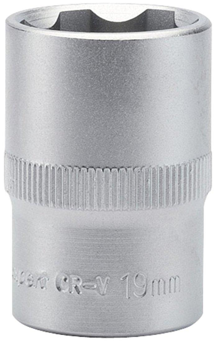 Draper Expert 09855 9 mm 1//2-Inch Square Drive Hi-Torq Satin Chrome 6-Point Socket
