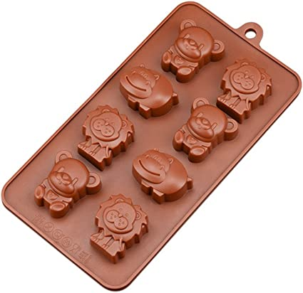 Moldes de silicona en forma de animal para barra de chocolate ...