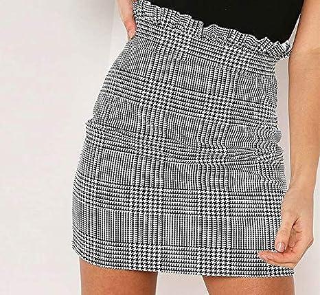 ZYSDHZ Falda A Cuadros Minifalda De Mujer Falda A Cuadros ...