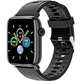 SmartWatch Relógio Inteligente com Monitor de Frequência Cardíaca com Tela Touch para Android e IOS,preto