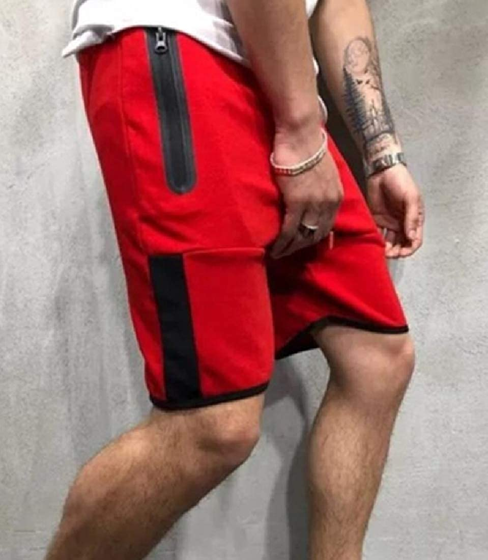 Mens Classic Short Athletic Pocket Sports Summer Shorts Workout Fitness Gym Shorts
