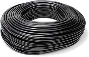 HPS HTSVH35-BLKx25 Black 25' Length High Temperature Silicone Vacuum Tubing Hose (60 psi Maxium Pressure, 3.5mm ID)