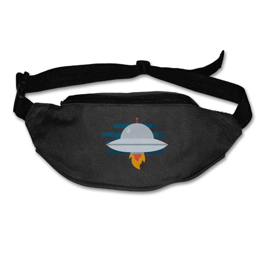 Waist Purse Spacecraft Lovers Unisex Outdoor Sports Pouch Fitness Runners Waist Bags