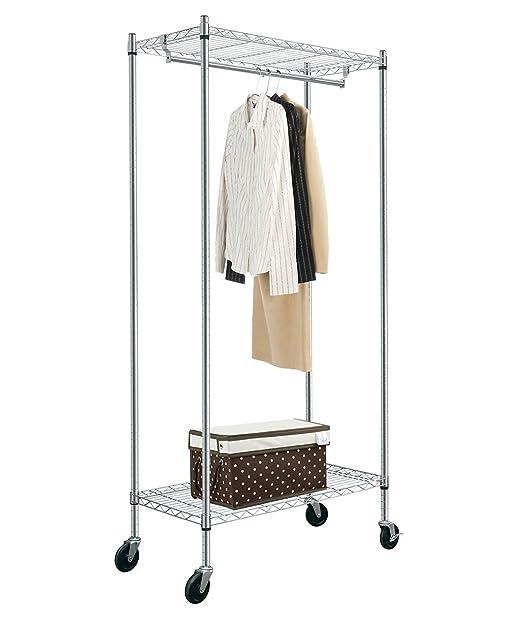 Kleider Aufhängen Stange 2 stufig regal kleidung rack mit eine zum aufhängen stange 193 cm