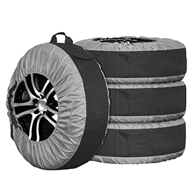 Durable Tire Tote Tyre Cover Storage Bag for Spare Wheel with Carrying Handle 77cm Diameter Pack of 4: Automotive [5Bkhe1001950]