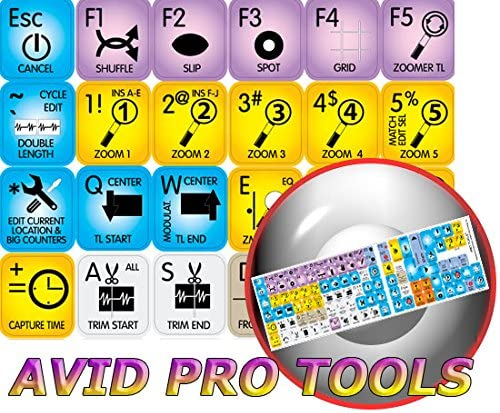4Keyboard AVID PRO Tools Keyboard Stickers Unbeatable Quality