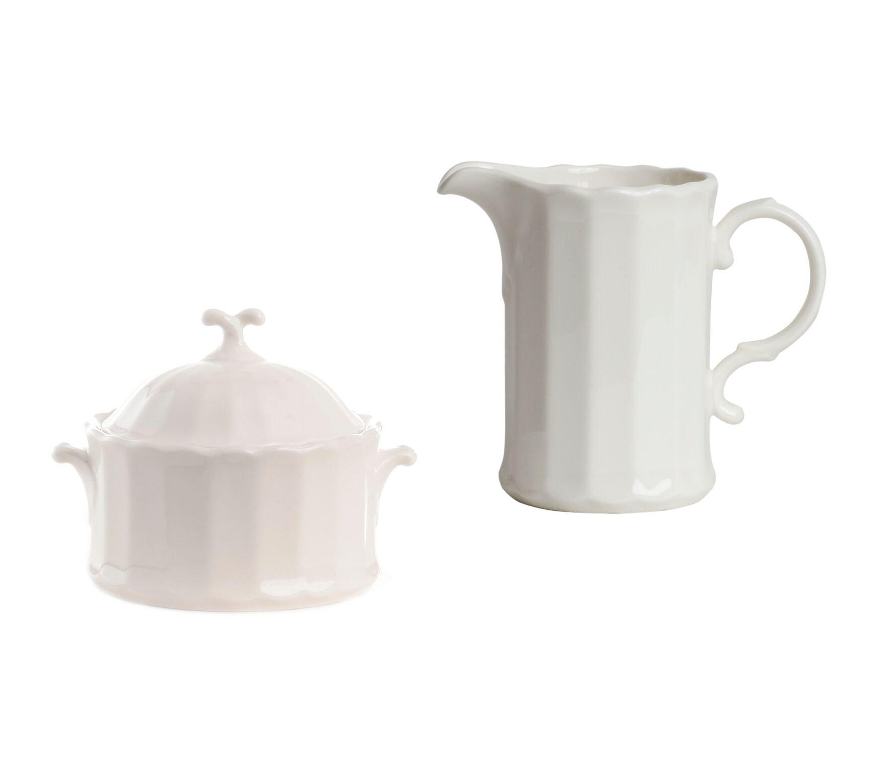 Red Vanilla Yardley Covered Sugar Bowl and Creamer Set