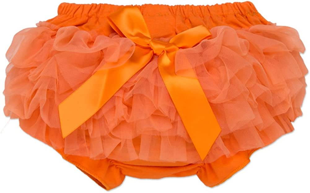Baby Girls Lace Ruffle Bloomers Newborn Bowknot Tutu Diaper Cover