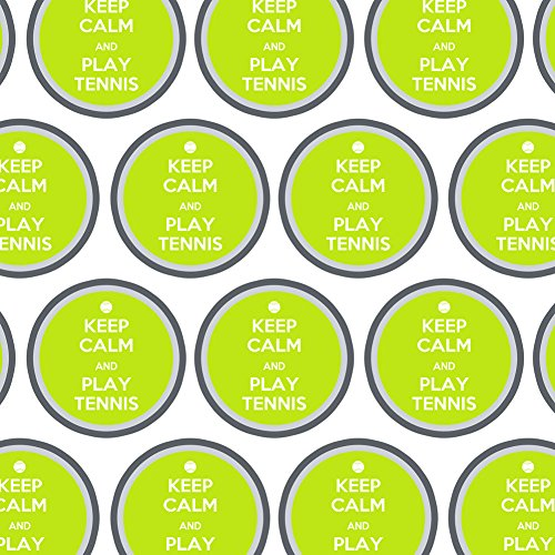 - Premium Gift Wrap Wrapping Paper Roll Keep Calm and P-Y - Play Tennis Sports - Keep Calm and