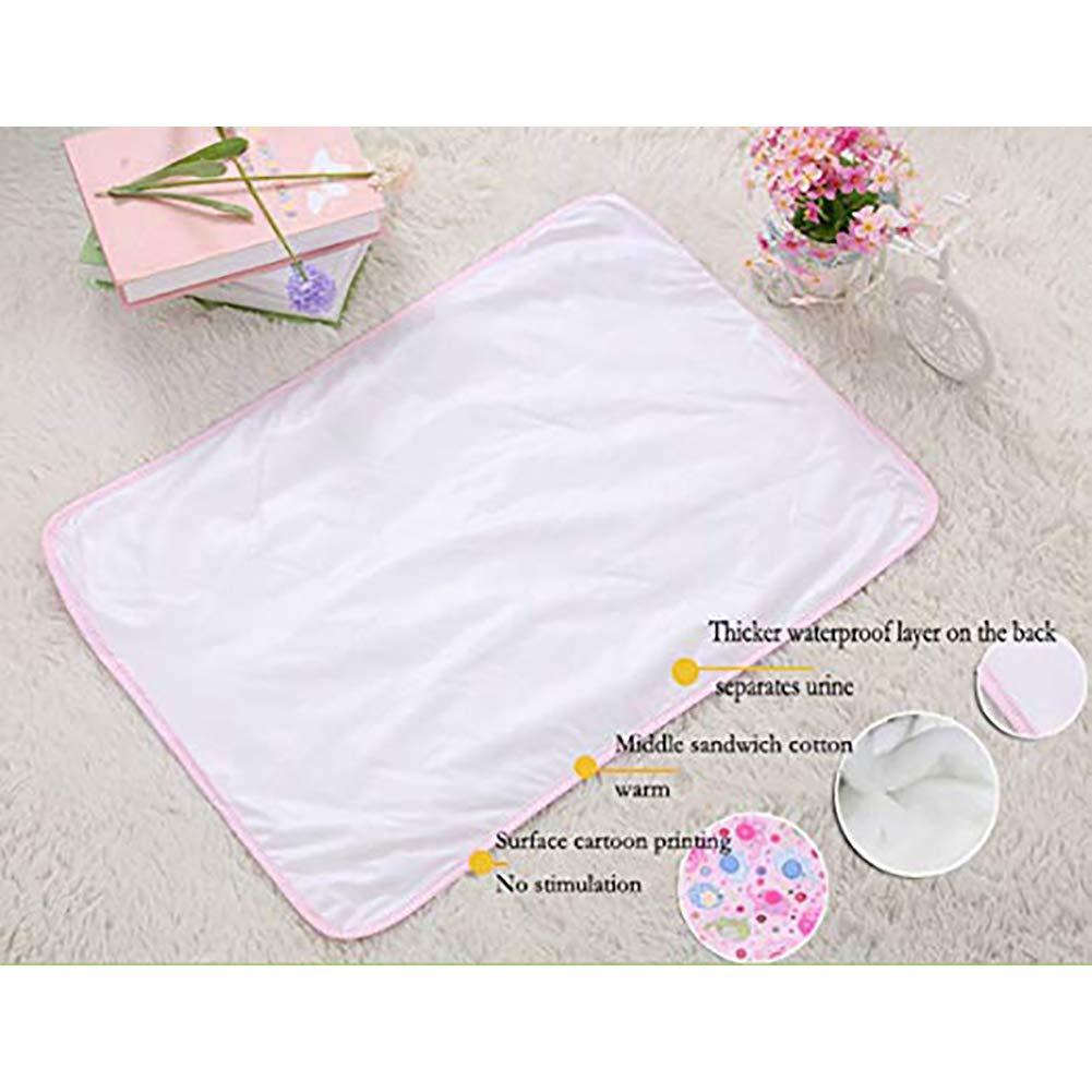 Lavable impermeable colchón hoja protector cama Empapador suave y absorbente pastillas de orina para bebés niños pequeños y adultos con incontinencia 60 ...