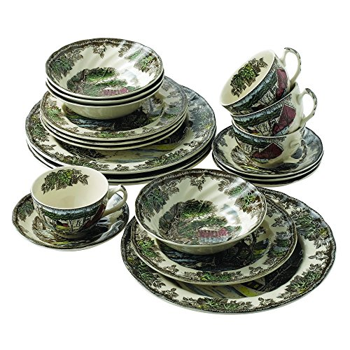 Johnson Brothers Friendly Village 20-Piece Set, Service for - Lily Collection Pond