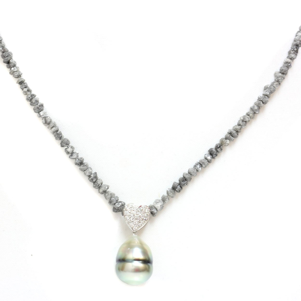 1f06dfd78d45c Amazon.com: 18k Gold - Diamond Heart Tahitian South Sea Cultured ...