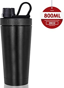 Moonice Stainless Steel New Shaker Bottle with Heat-Resistant Handle