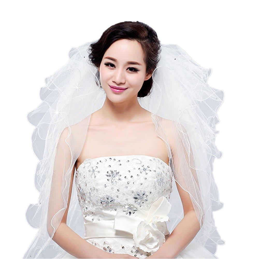 Bridal Veil Short Wedding Vails First Communion White Veils and Headpieces