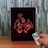 Bella House Lovely Visual Creative 3D Visual Illusion LED Colorful Gradients Lovely Effect Photo Frame Lamp Night Light Toy Gift Idea