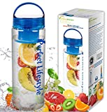 iPerfect Lifestyle Infuser Water Bottle - Made with Commercial Grade Tritan - Recipe Ebook INCLUDED