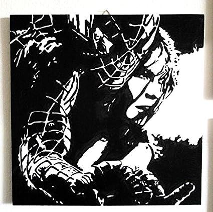 Spider Man Hombre Araña (Spiderman) marco Panel Madera MDF pintado a ...