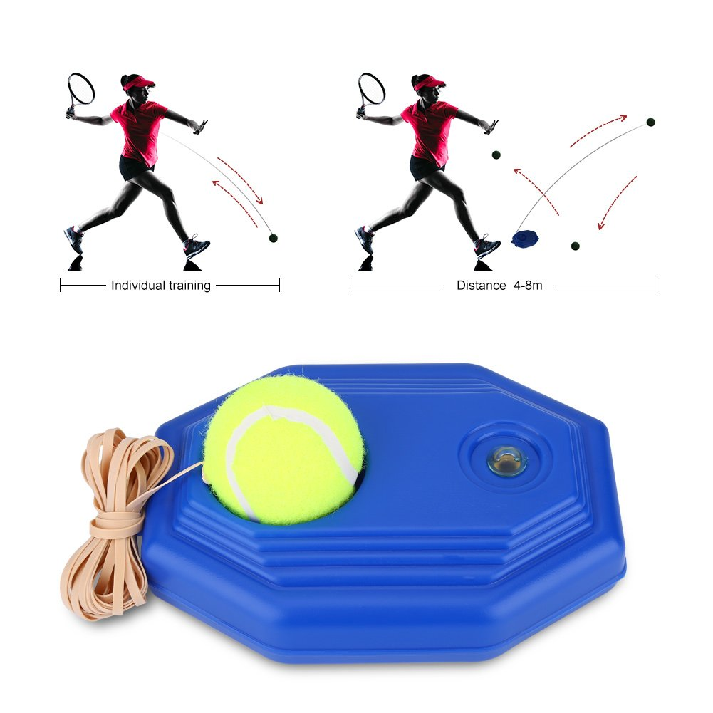 VGEBY Tennis Ball Trainer,Tennis Base with Rope Ball Rebound Player for Beginner